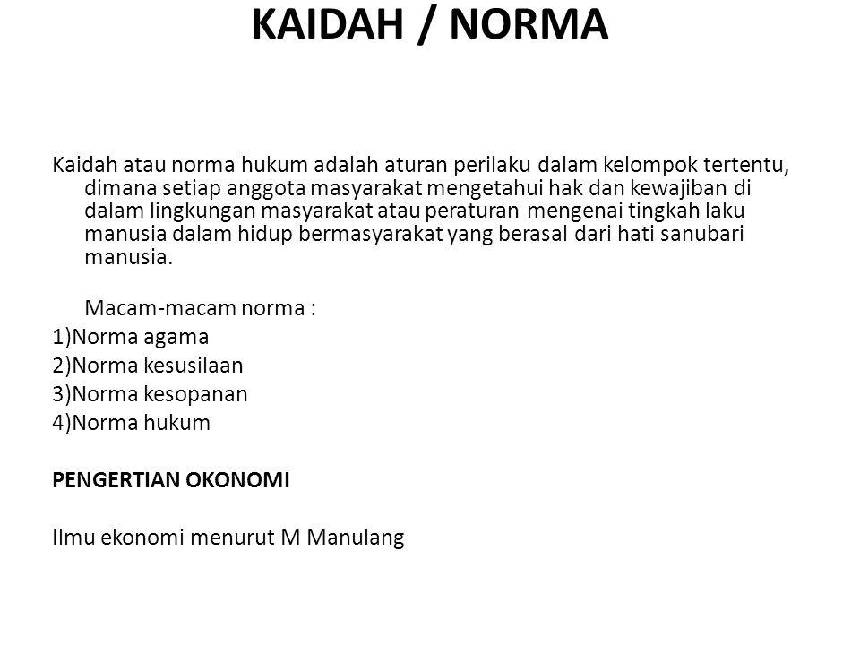 KAIDAH / NORMA