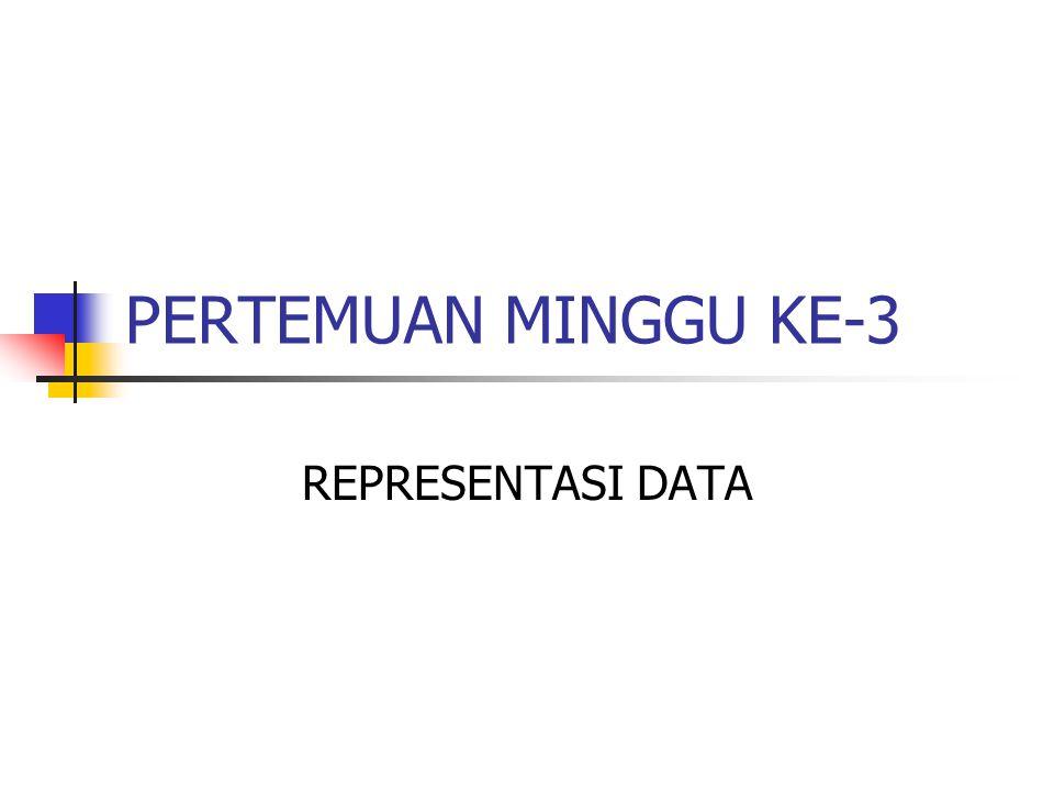 PERTEMUAN MINGGU KE-3 REPRESENTASI DATA