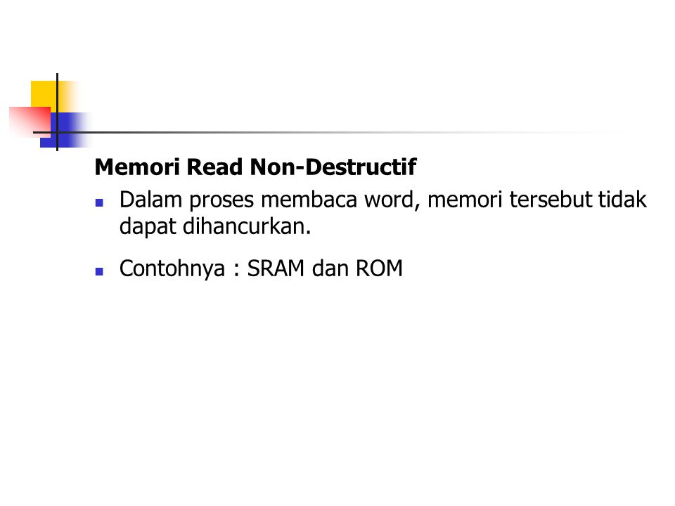 Memori Read Non-Destructif