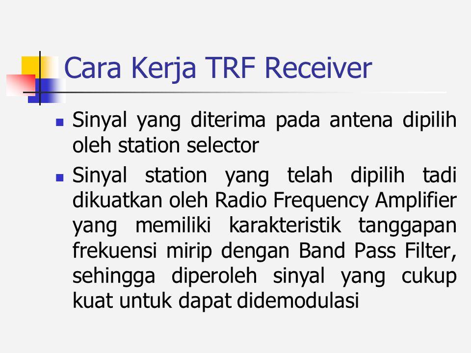 Cara Kerja TRF Receiver
