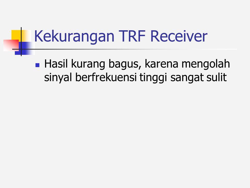 Kekurangan TRF Receiver