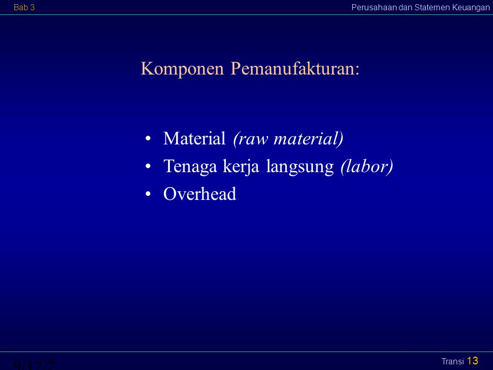 Komponen Pemanufakturan: