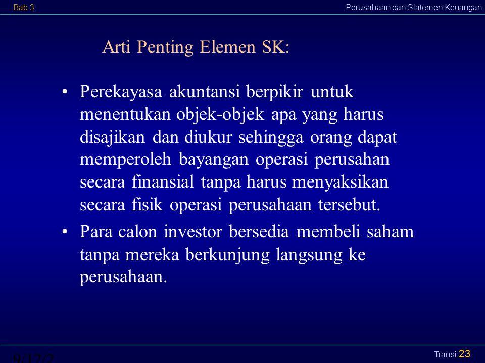Arti Penting Elemen SK: