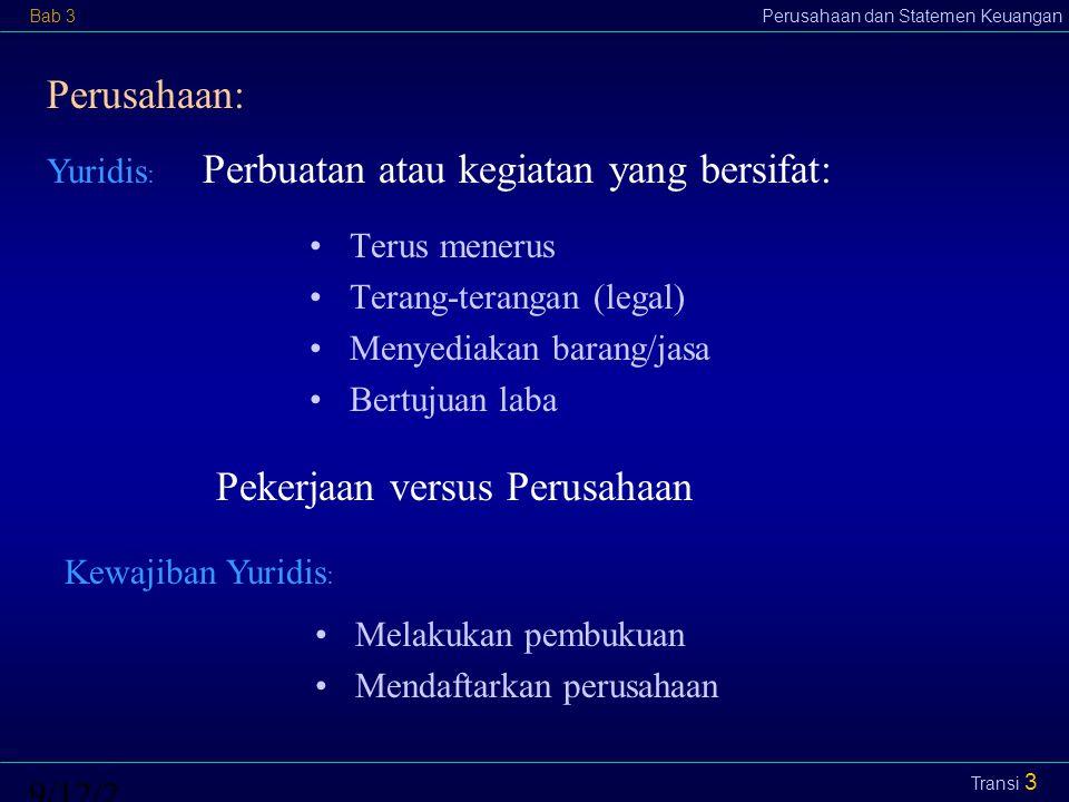 Perbuatan atau kegiatan yang bersifat: