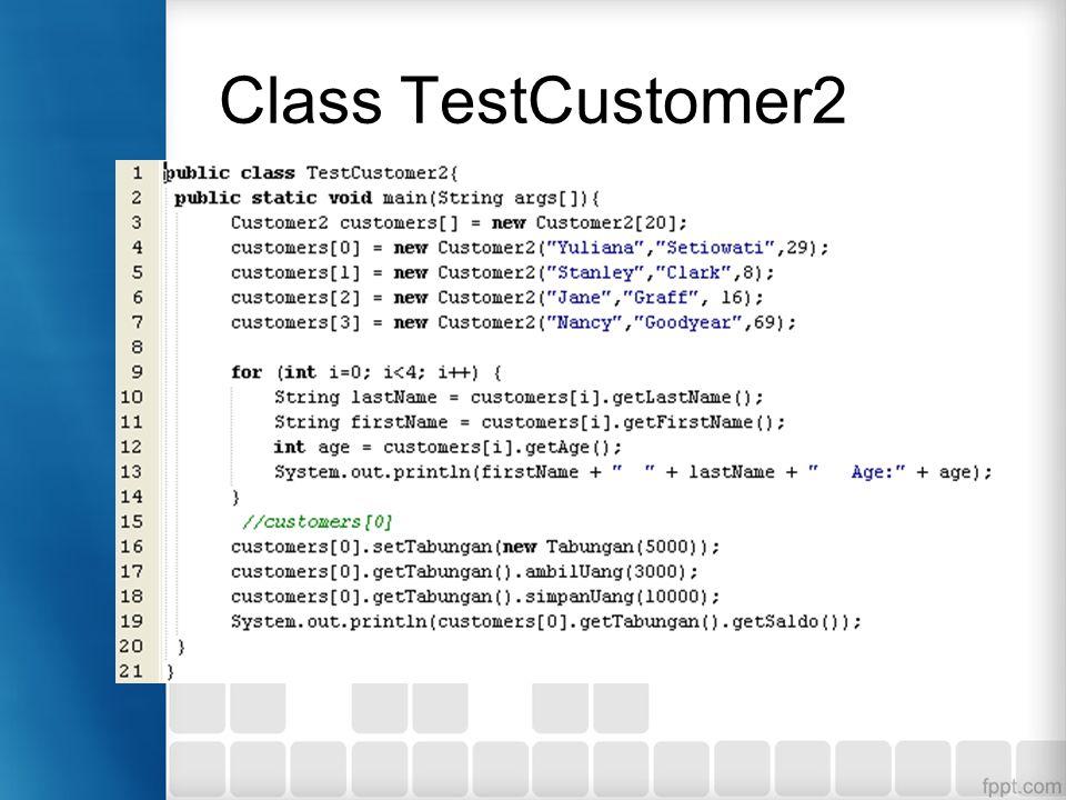 Class TestCustomer2