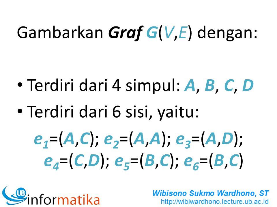 e1=(A,C); e2=(A,A); e3=(A,D); e4=(C,D); e5=(B,C); e6=(B,C)