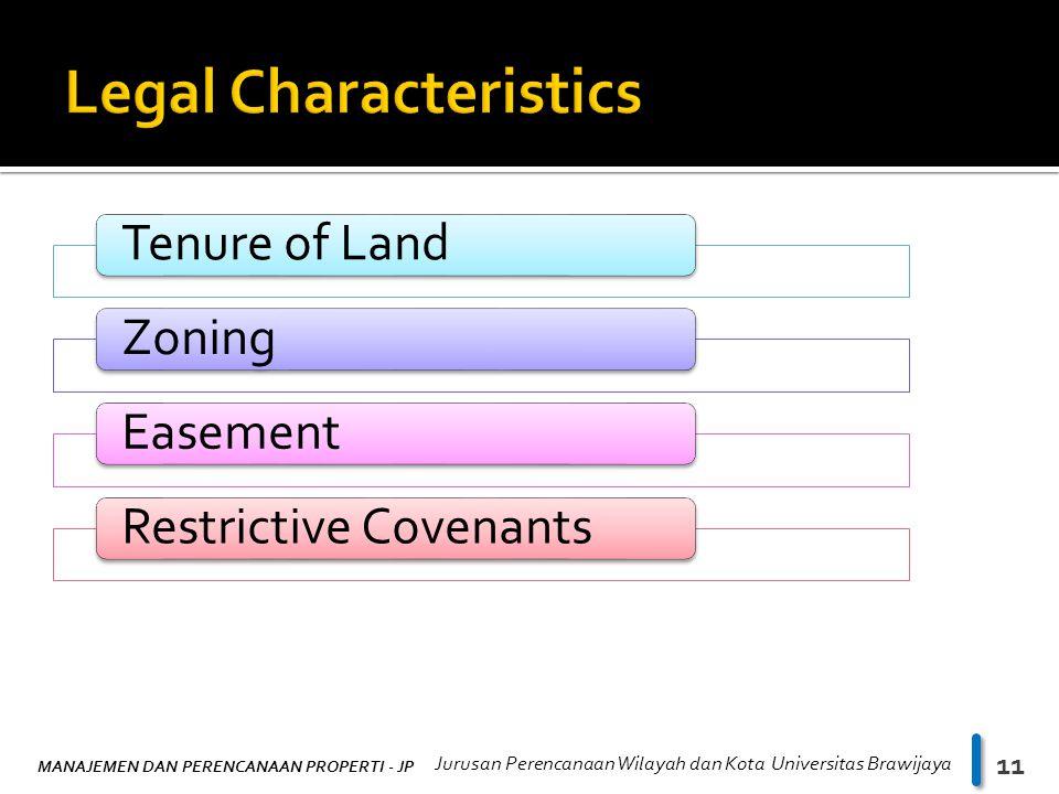 Legal Characteristics