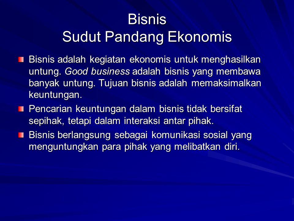 Bisnis Sudut Pandang Ekonomis