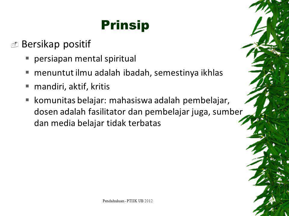 Prinsip Bersikap positif persiapan mental spiritual
