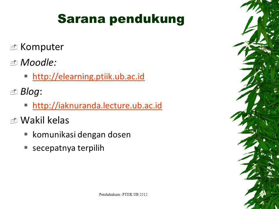 Sarana pendukung Komputer Moodle: Blog: Wakil kelas