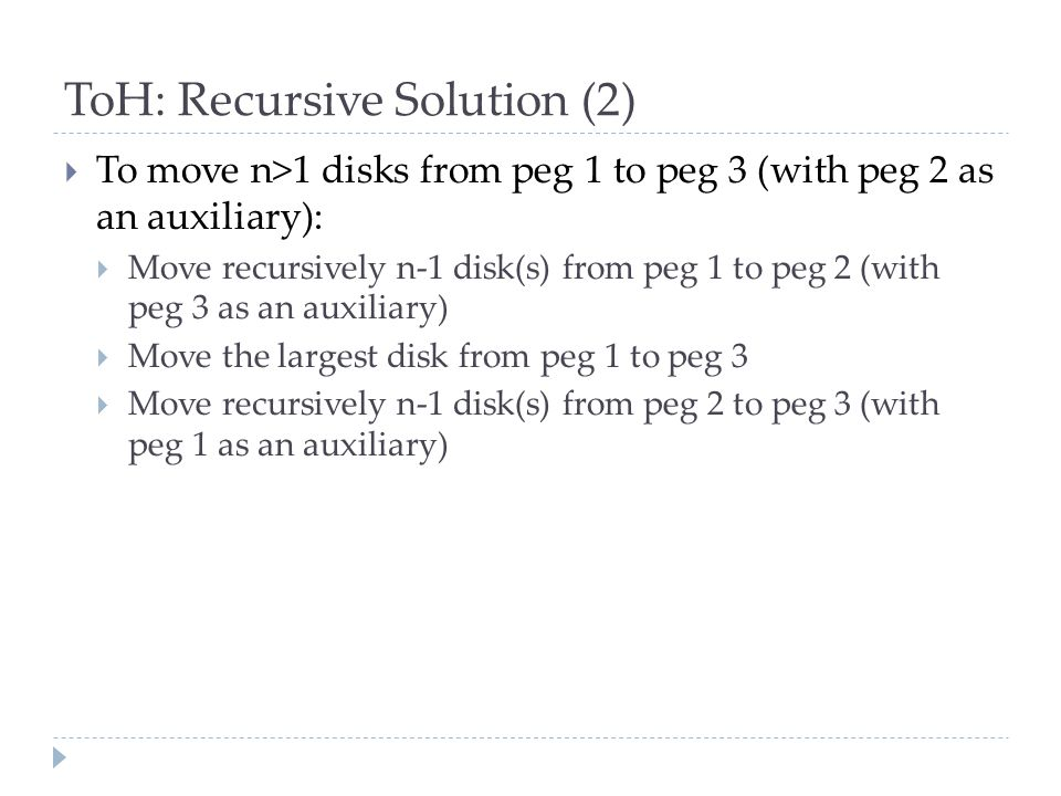 ToH: Recursive Solution (2)