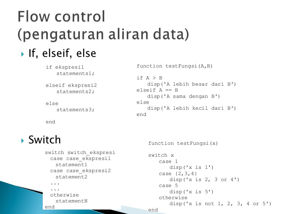 Flow control (pengaturan aliran data)