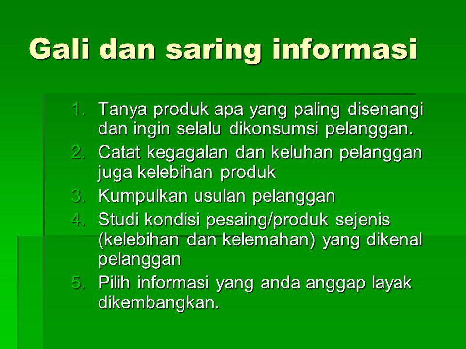 Gali dan saring informasi