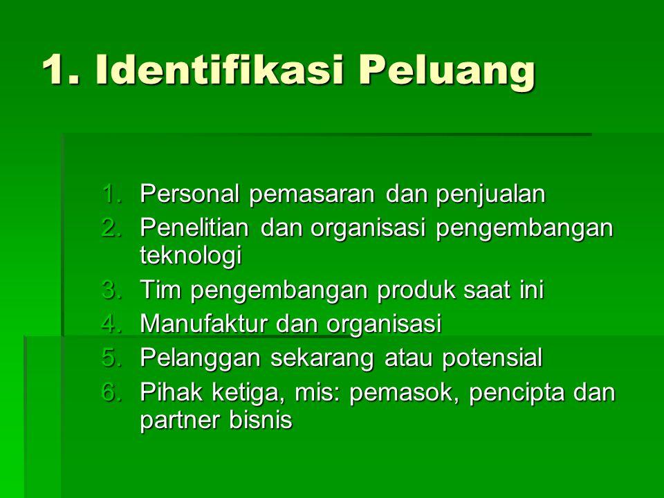 1. Identifikasi Peluang Personal pemasaran dan penjualan
