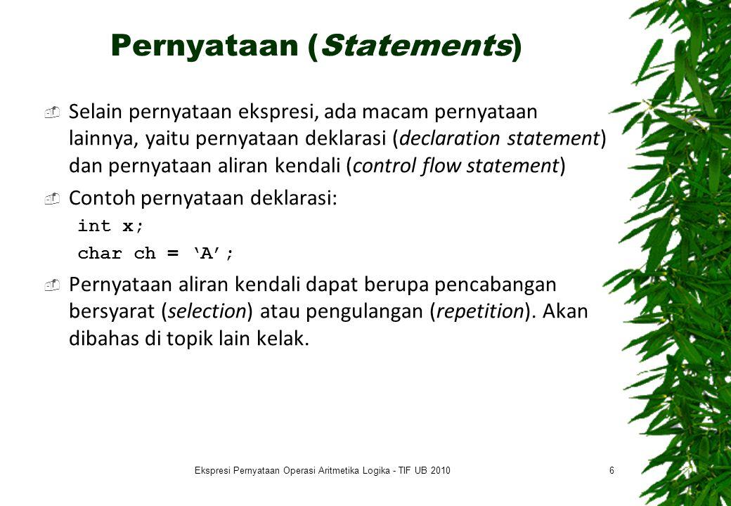 Pernyataan (Statements)