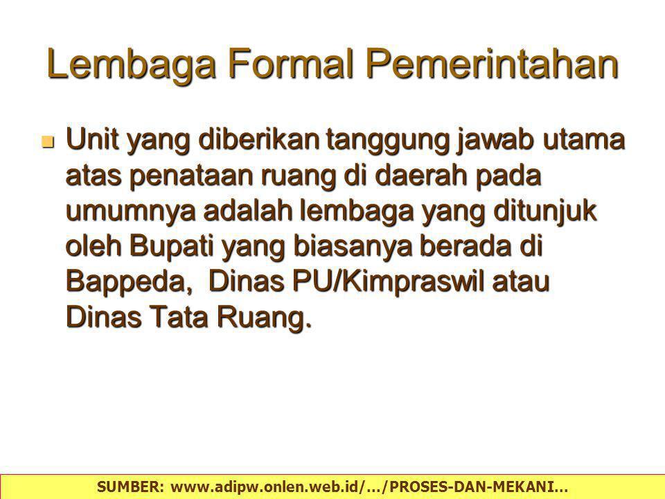 Lembaga Formal Pemerintahan
