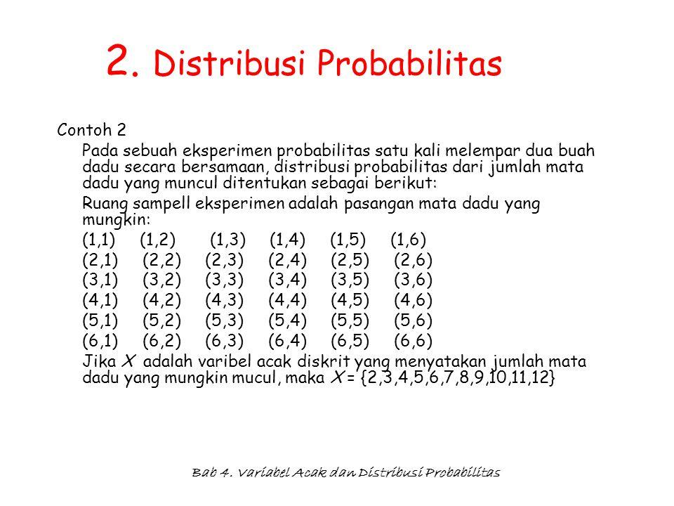 2. Distribusi Probabilitas