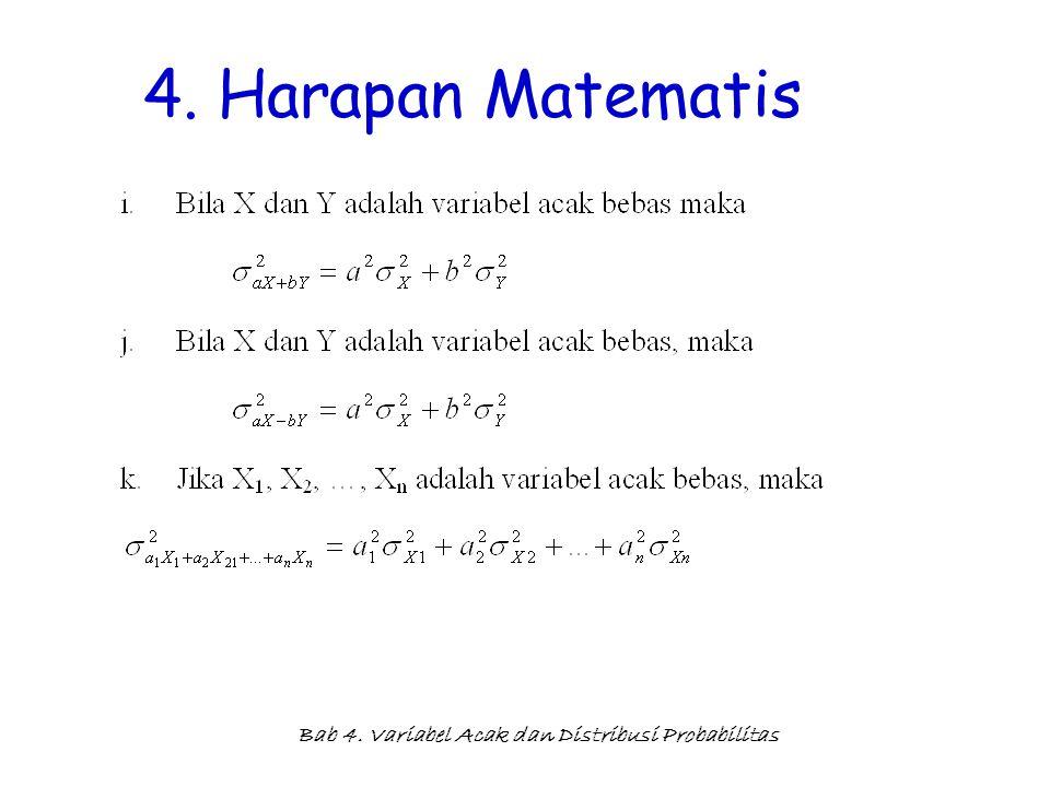 Bab 4. Variabel Acak dan Distribusi Probabilitas