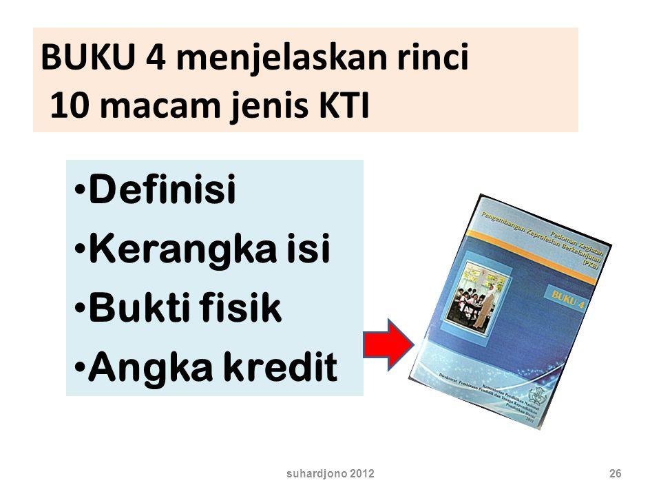 BUKU 4 menjelaskan rinci 10 macam jenis KTI