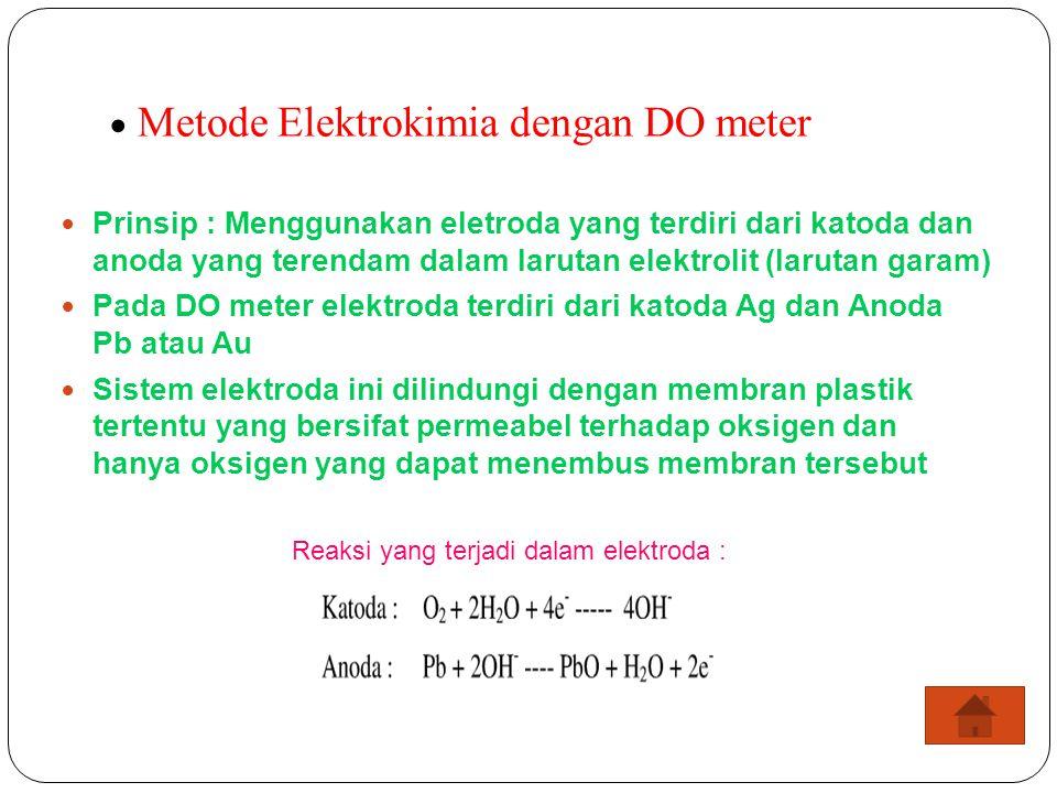  Metode Elektrokimia dengan DO meter
