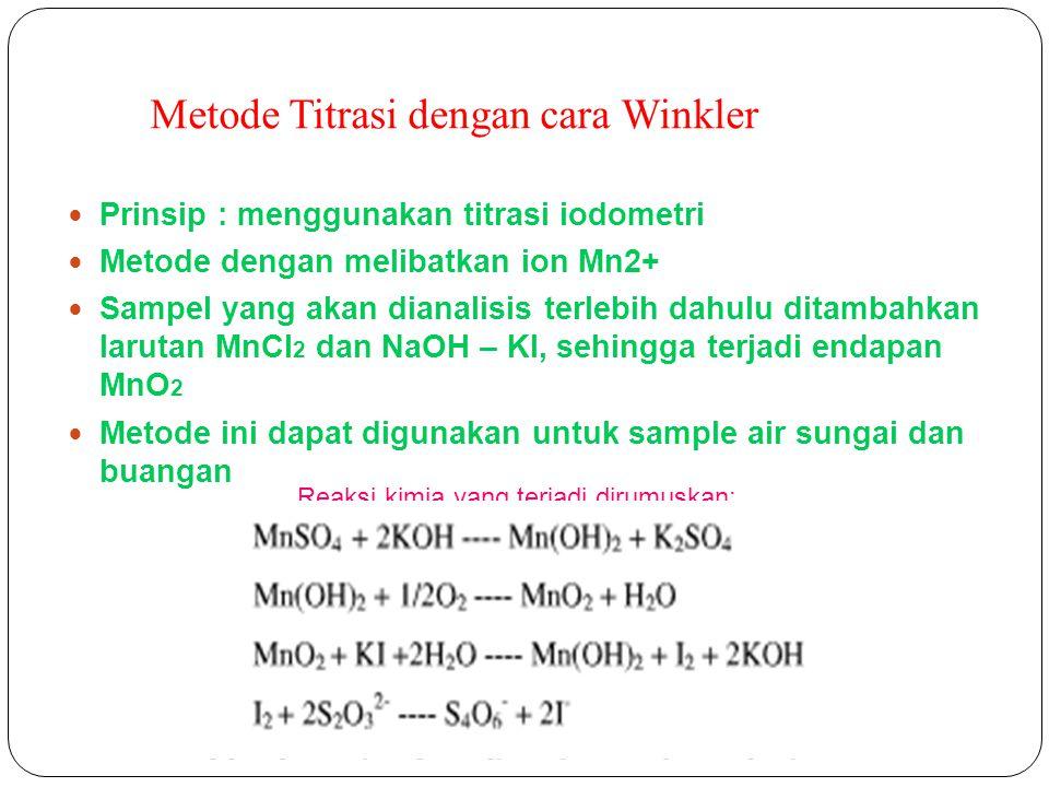 Metode Titrasi dengan cara Winkler