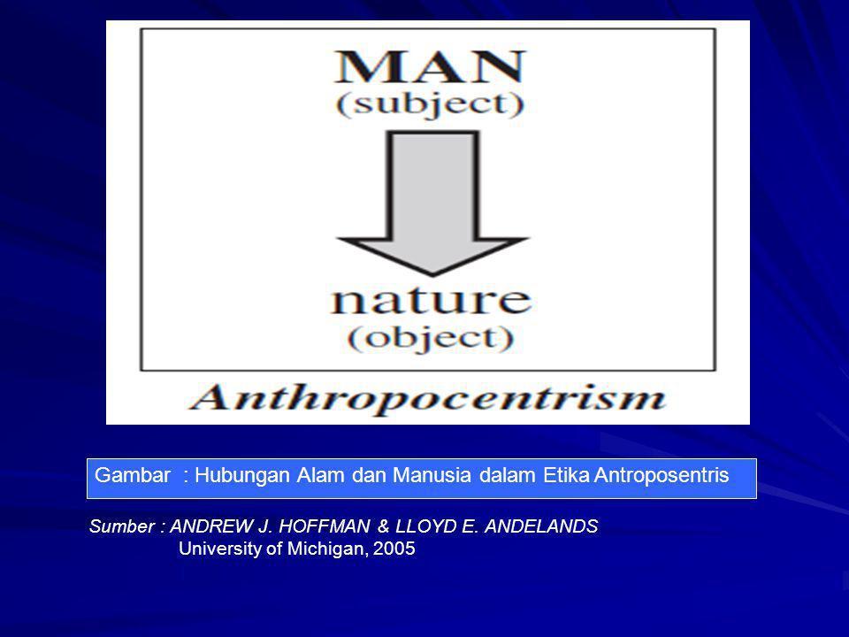 Gambar : Hubungan Alam dan Manusia dalam Etika Antroposentris