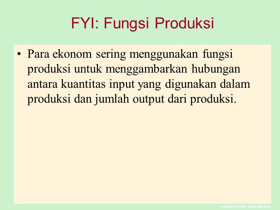 FYI: Fungsi Produksi