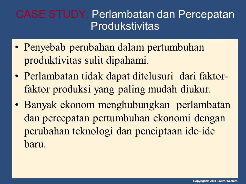 CASE STUDY: Perlambatan dan Percepatan Produkstivitas