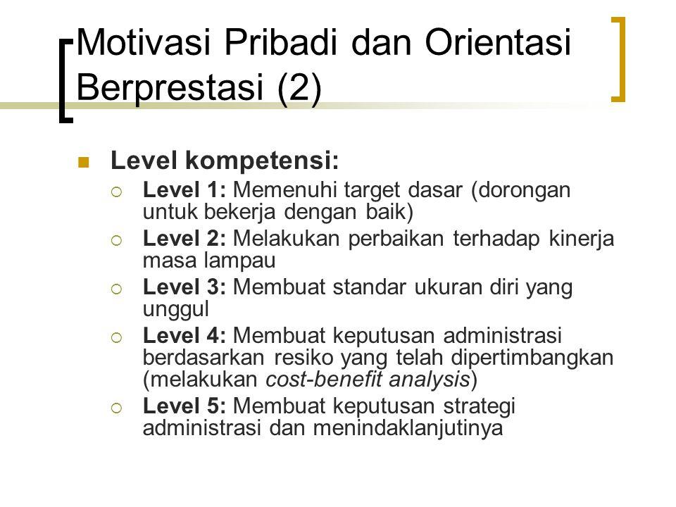 Motivasi Pribadi dan Orientasi Berprestasi (2)