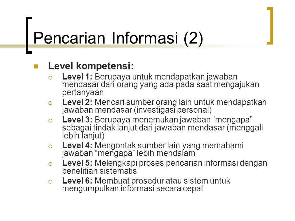 Pencarian Informasi (2)