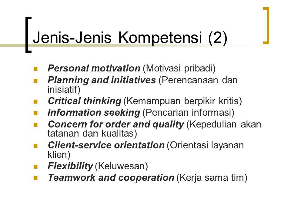 Jenis-Jenis Kompetensi (2)
