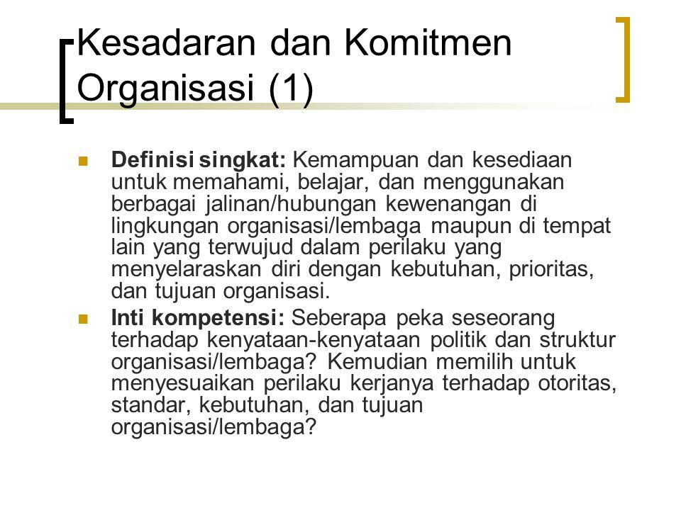 Kesadaran dan Komitmen Organisasi (1)