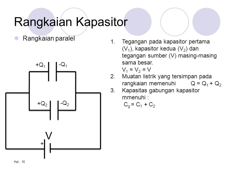 Rangkaian Kapasitor V Rangkaian paralel