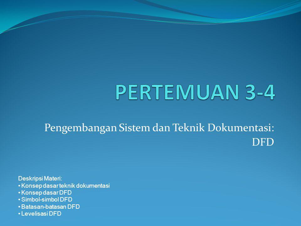 Pengembangan Sistem dan Teknik Dokumentasi: DFD