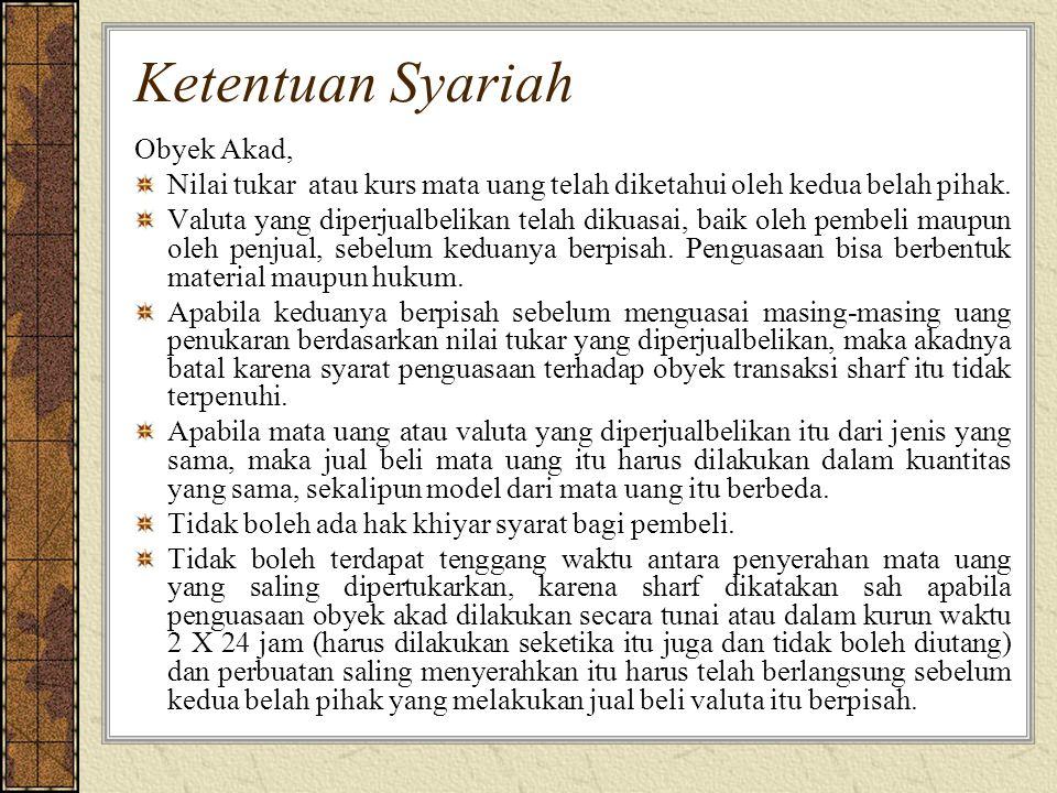 Ketentuan Syariah Obyek Akad,