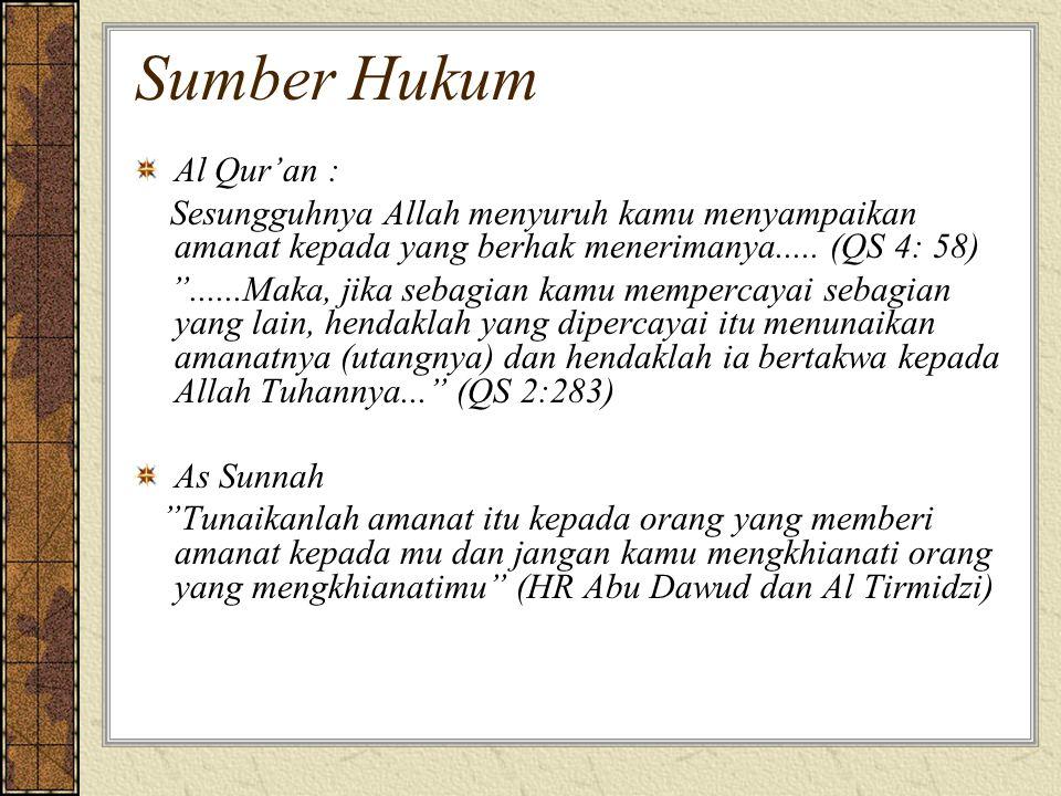 Sumber Hukum Al Qur'an :