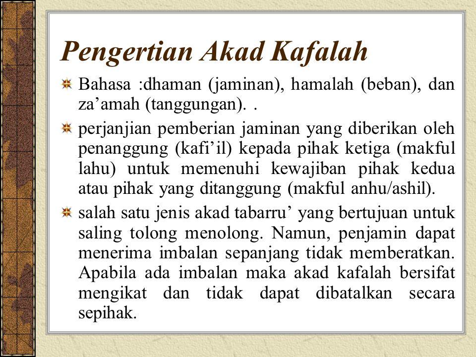 Pengertian Akad Kafalah