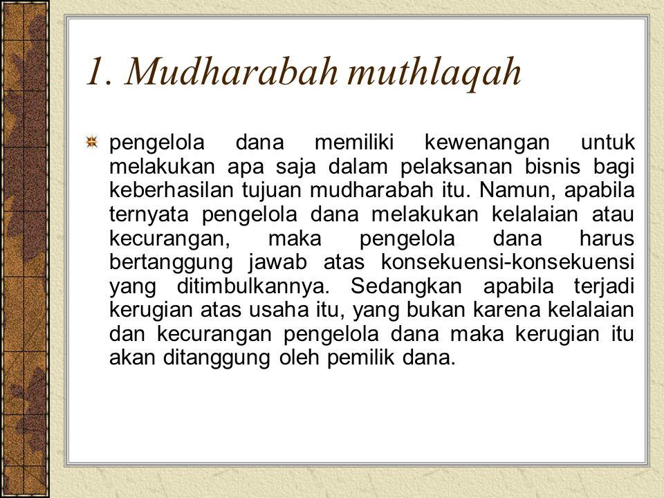 1. Mudharabah muthlaqah