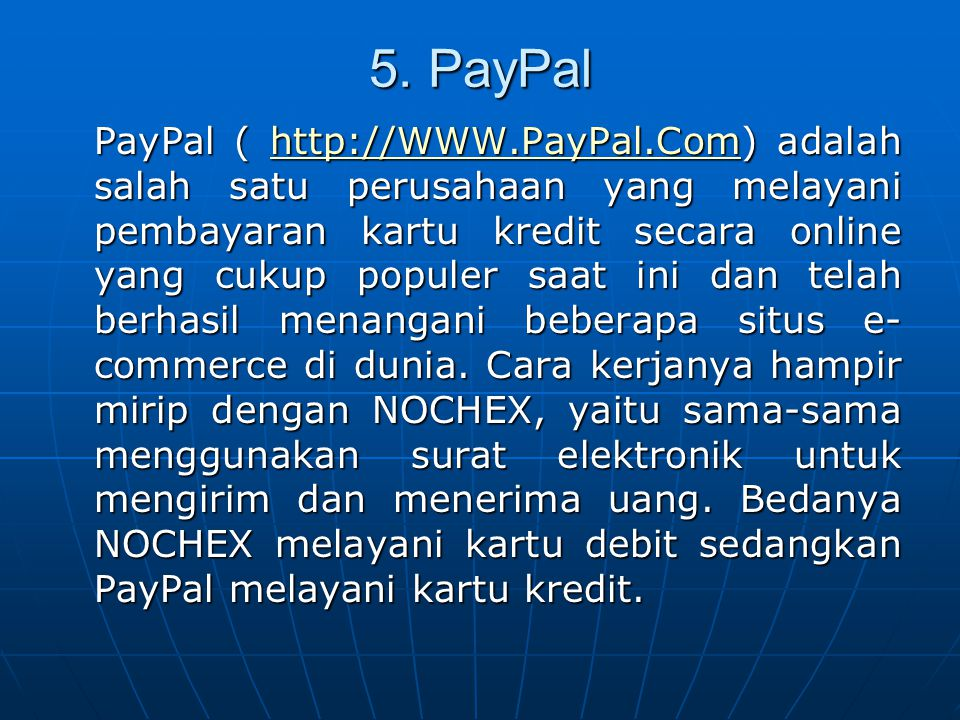 5. PayPal