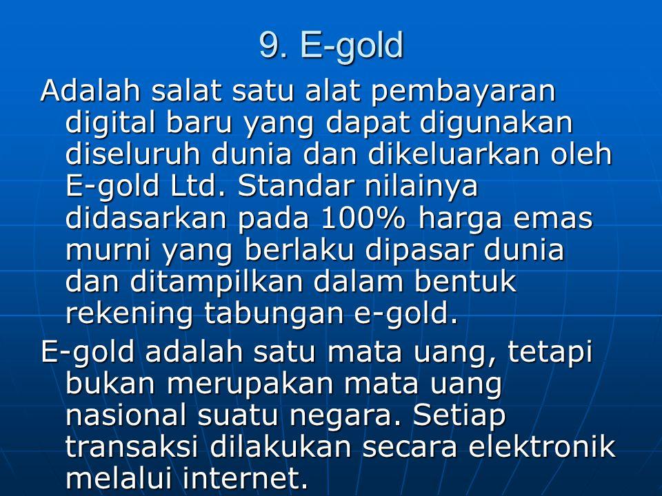9. E-gold