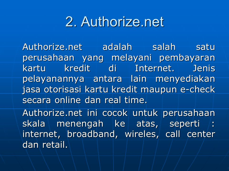 2. Authorize.net