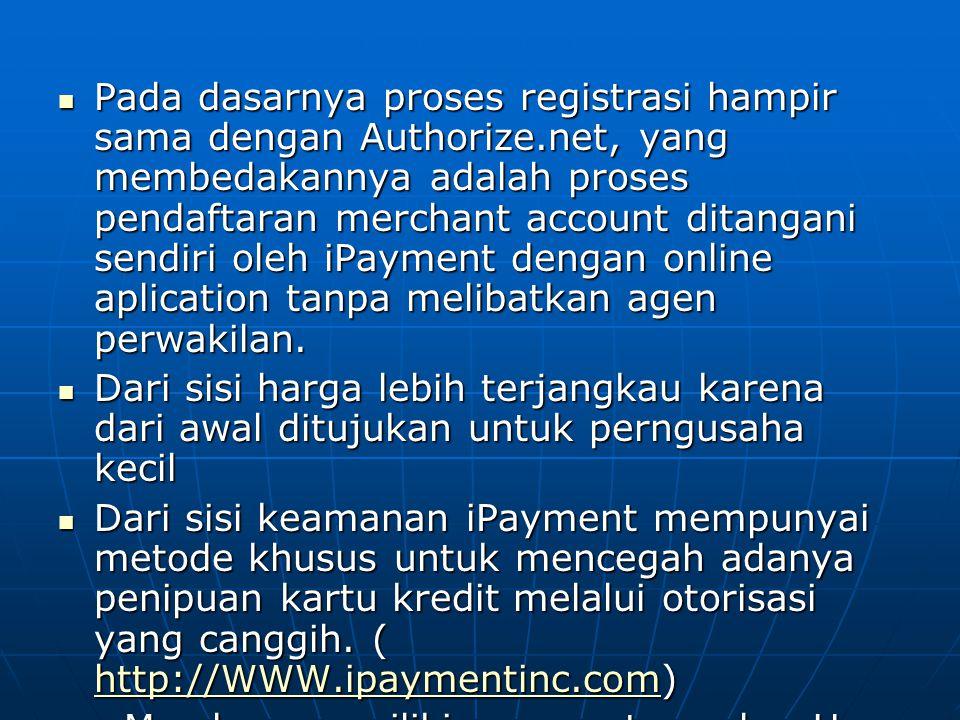 Pada dasarnya proses registrasi hampir sama dengan Authorize