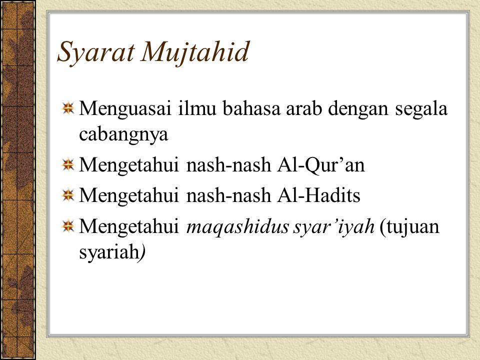 Syarat Mujtahid Menguasai ilmu bahasa arab dengan segala cabangnya