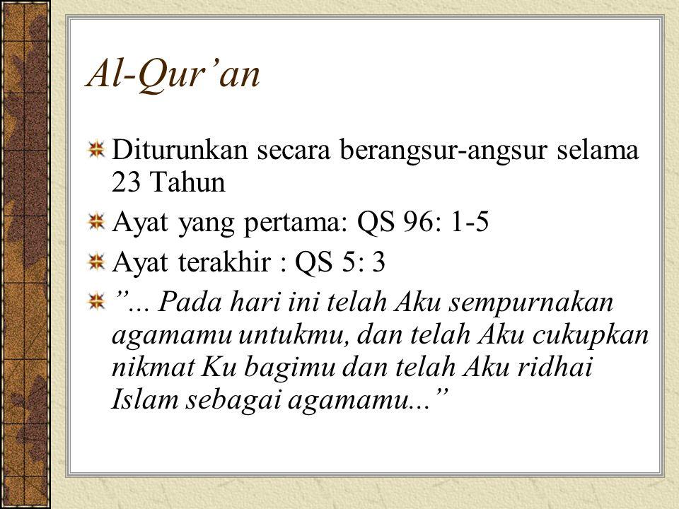 Al-Qur'an Diturunkan secara berangsur-angsur selama 23 Tahun