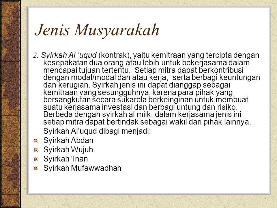 Jenis Musyarakah