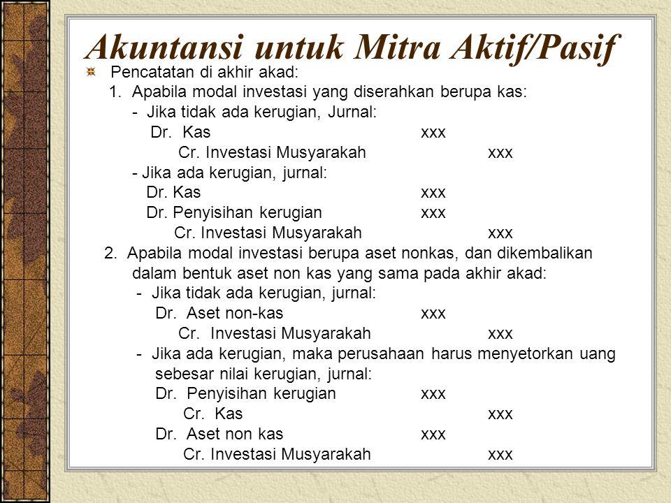 Akuntansi untuk Mitra Aktif/Pasif