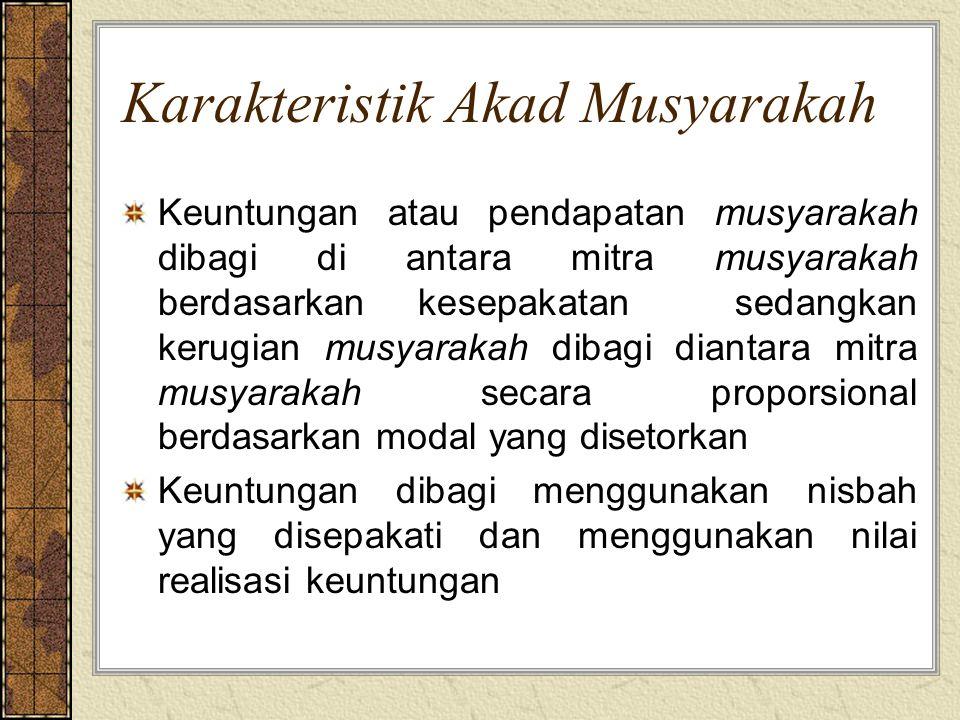 Karakteristik Akad Musyarakah