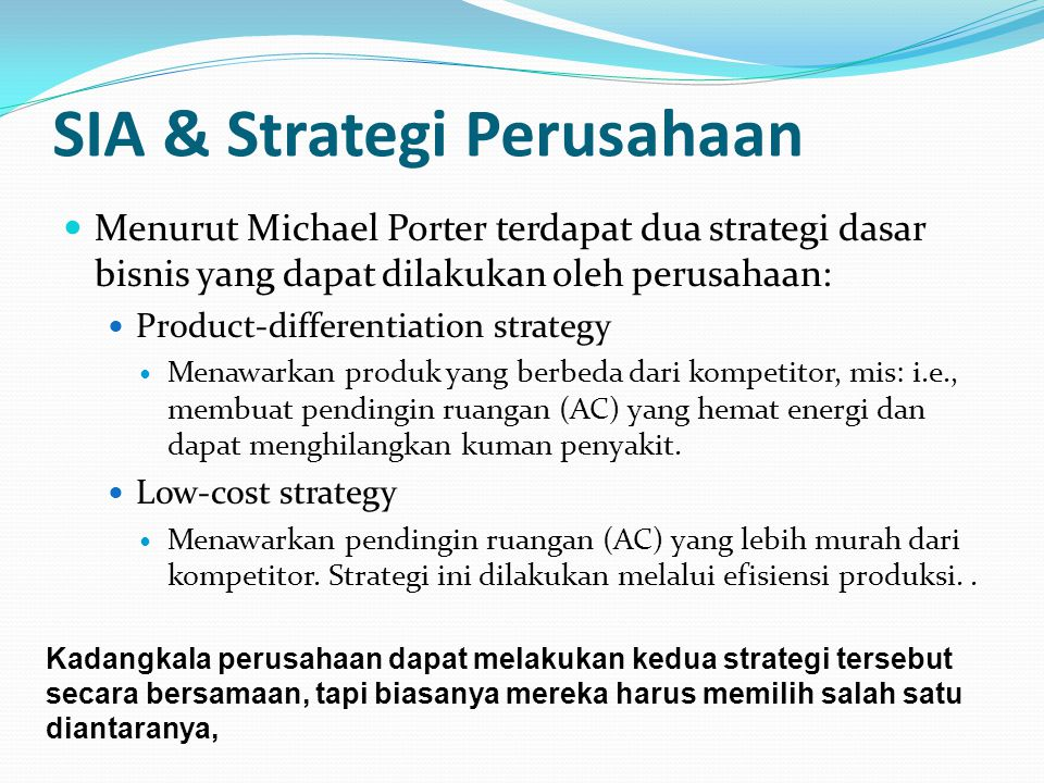 SIA & Strategi Perusahaan