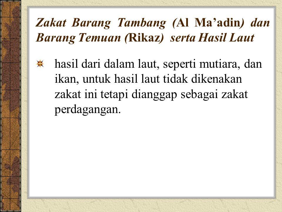 Zakat Barang Tambang (Al Ma'adin) dan Barang Temuan (Rikaz) serta Hasil Laut
