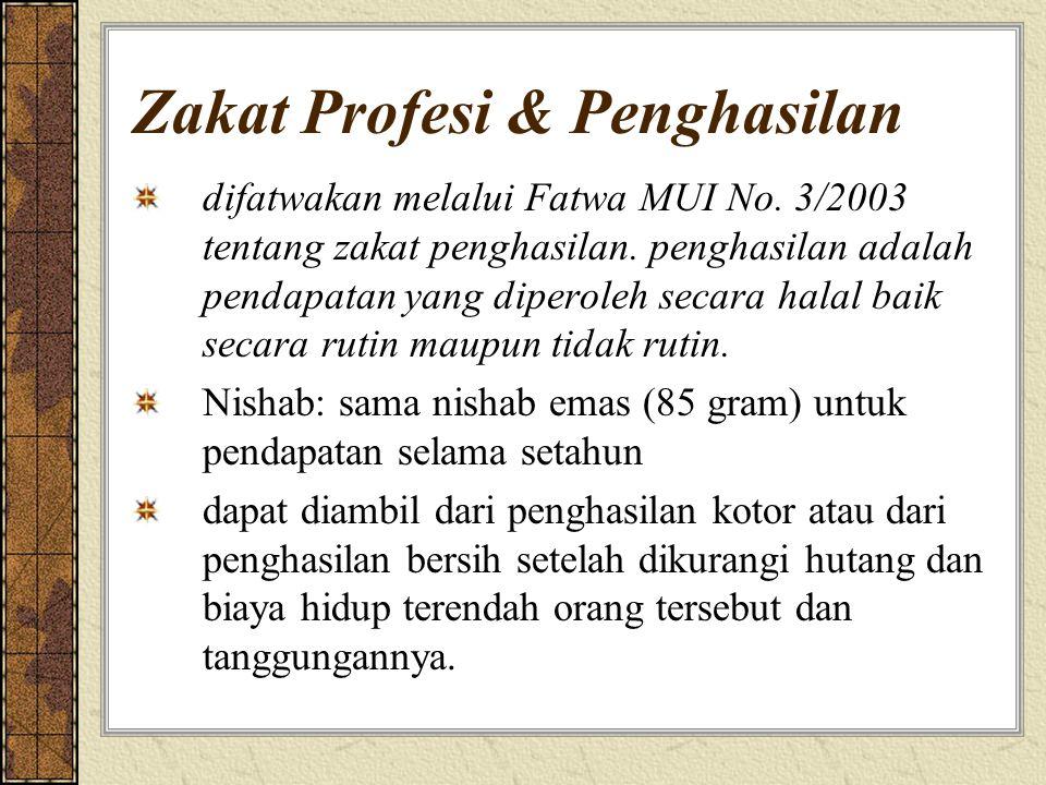 Zakat Profesi & Penghasilan